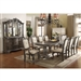 Kiera Complete Dining Set China Included in Grey Finish by Crown Mark - CM-2151C