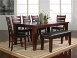 Bardstown 7 Piece Dining Set in Walnut Finish by Crown Mark - 2152-7