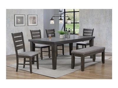 Bardstown 5 Piece Dining Set in Grey Finish by Crown Mark - CM-2152GY
