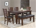 Bardstown 5 Piece Dining Set in Walnut Finish by Crown Mark - 2157-5