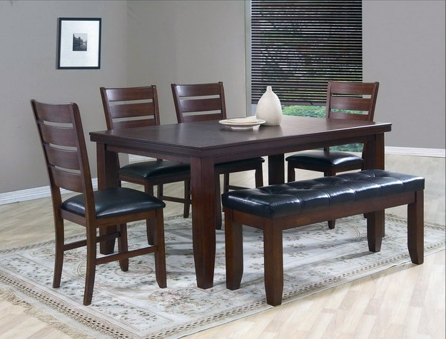 Bardstown 6 Piece Dining Set In Walnut Finish By Crown Mark