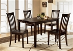 Brody 5 Piece Dining Set in Espresso Finish by Crown Mark - 2182