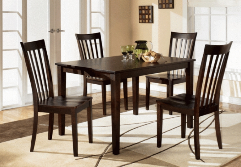Brody 5 Piece Dining Set In Espresso Finish By Crown Mark