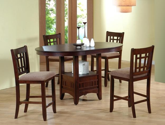 Empire 5 Piece Counter Height Dining Set In Espresso Finish By Crown Mark    2185