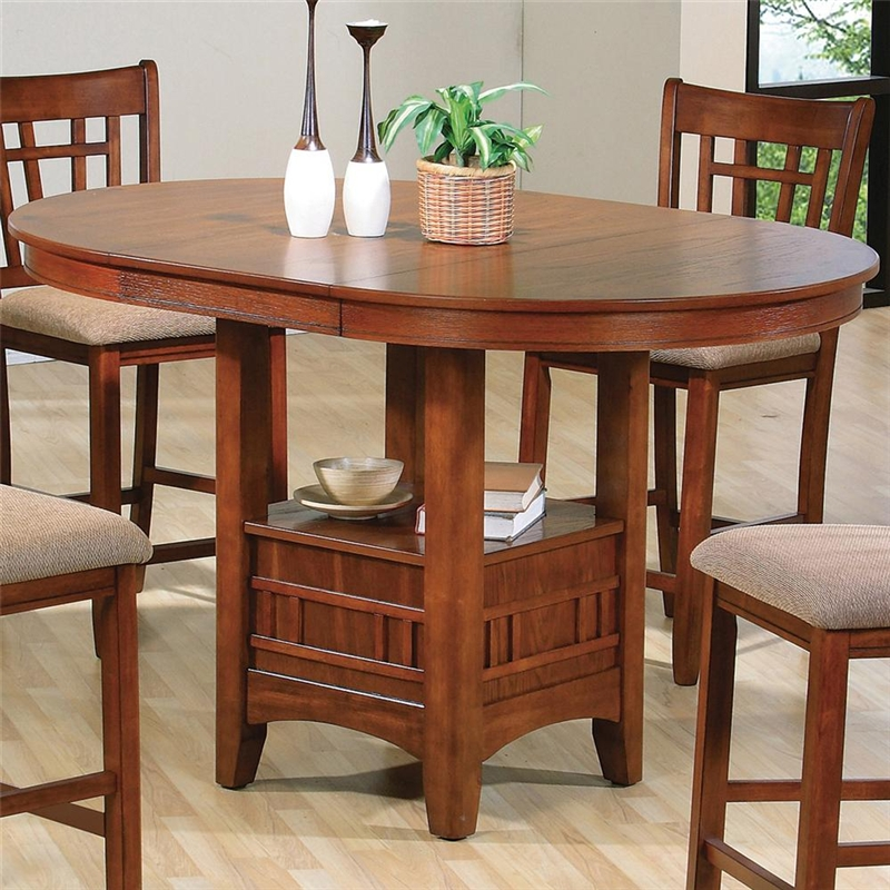 Empire 5 Piece Counter Height Dining Set In Oak Finish By