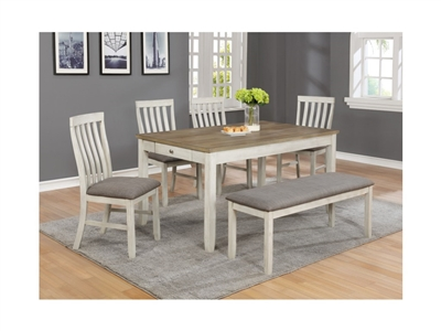 Brigitte 5 Piece Dining Set in Two-tone Finish by Crown Mark - CM-2217