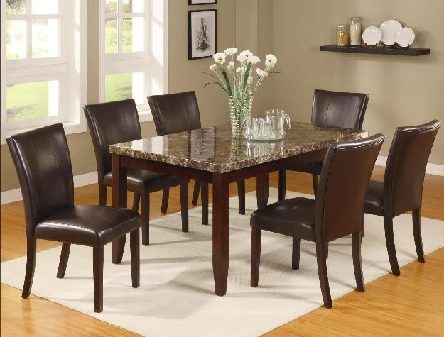 ferrara 7 piece dining set in espresso finishcrown mark - 2221