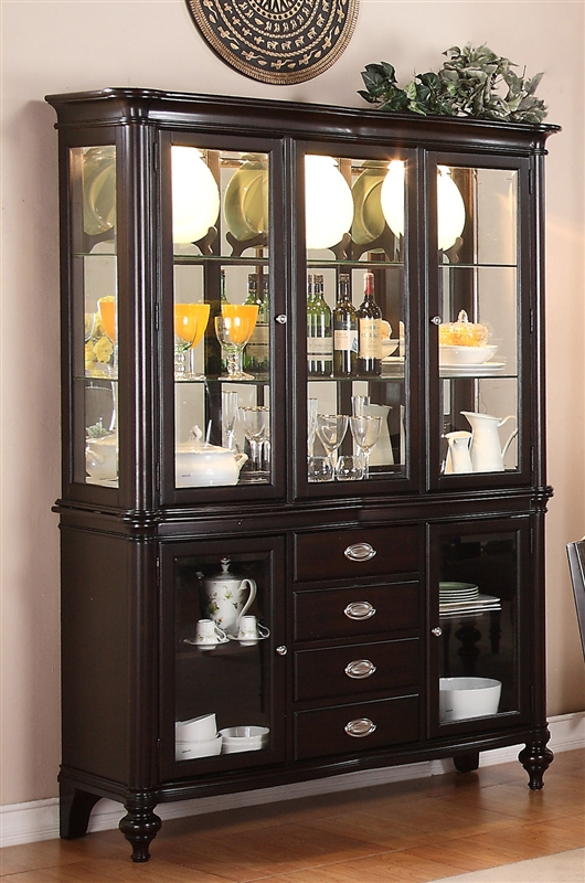 foley buffet and hutch in espresso finish by crown mark 2227h rh homecinemacenter com