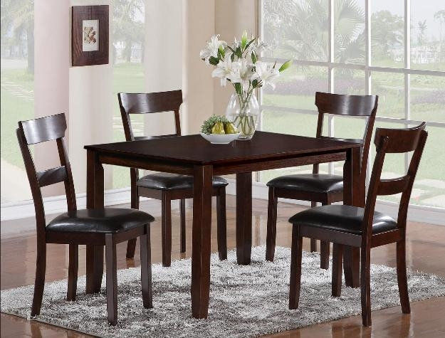 Henderson 5 Piece Dining Set In Espresso Finish By Crown