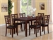 Darren 7 Piece Dining Set in Espresso Finish by Crown Mark - 2256