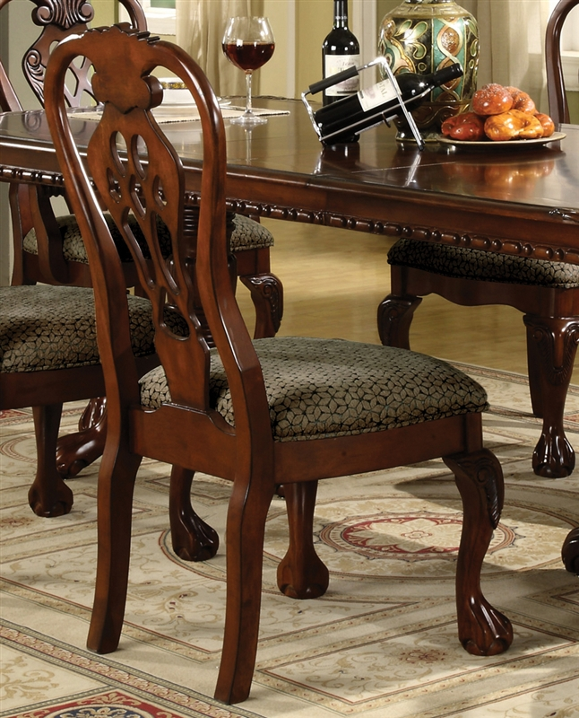 Brussels Traditional Dining Room Set 7 Piece Set: Brussels 7 Piece Dining Set In Cherry Finish By Crown Mark