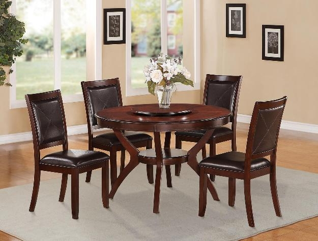 Great Brownstown Round Table 5 Piece Dining Set In Espresso Finish By Crown Mark    2517 48