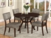 Kayla 5 Piece Dining Set in Brown Finish by Crown Mark - 2610