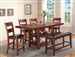 Peyton 5 Piece Counter Height Dining Set in in Cherry Finish by Crown Mark - 2700