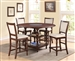 Tremont 5 Piece Counter Height Dining Set in Warm Brown Finish by Crown Mark - 2705