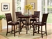 Brook 5 Piece Counter Height Dining Set in Espresso Finish by Crown Mark - 2719