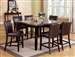 Ferrara 7 Piece Counter Height Dining Set in Espresso Finish by Crown Mark - 2721