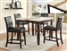 Larissa Cream Table Top 5 Piece Counter Height Dining Set in Espresso Finish by Crown Mark - 2722