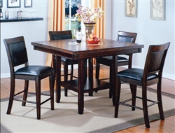 Fulton 5 Piece Counter Height Dining Set in Espresso Finish by Crown Mark - 2727