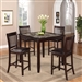 Cascade 5 Piece Counter Height Faux Marble Top Dining Set in Espresso Finish by Crown Mark - 2740