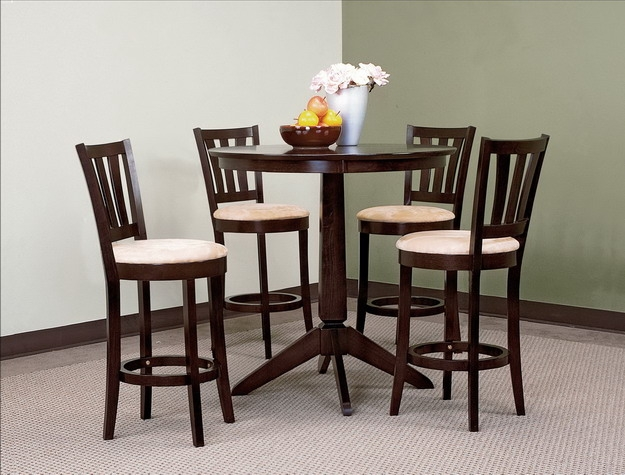 Shane 5 Piece Counter Height Dining Set in Espresso Finish by Crown Mark -  2750