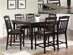 Brayden 5 Piece Counter Height Dining Set in Espresso Finish by Crown Mark - 2751B