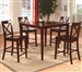 Theodore 5 Piece Counter Height Dining Set in Espresso Finish by Crown Mark - 2753