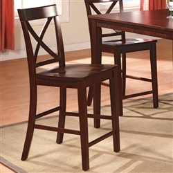 theodore 5 piece counter height dining set in espresso finish by crown mark