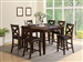 Bartlett 5 Piece Counter Height Dining Set in Espresso Finish by Crown Mark - 2762
