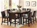 Bruce 5 Piece Counter Height Dining Set in Espresso Finish by Crown Mark - 2767