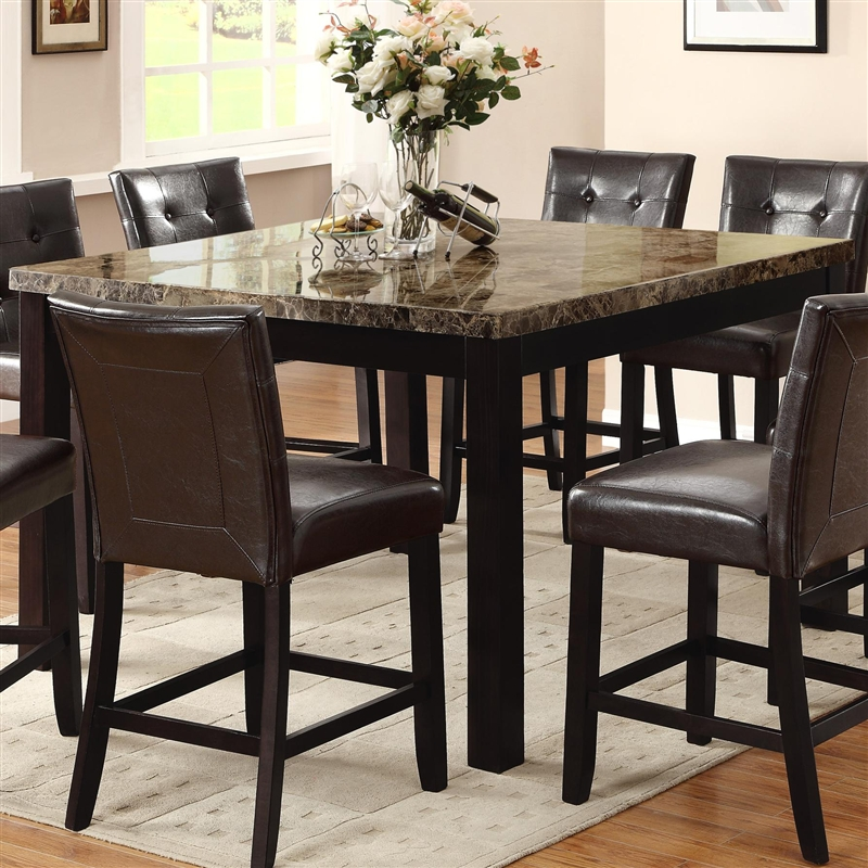 Pub Style Kitchen Table Bruce 5 Piece Counter Height Dining Set