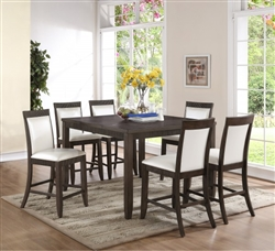 Ariana 5 Piece Counter Height Dining Set in Grey Finish by Crown Mark - 2768