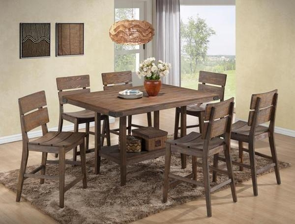 Merveilleux Bradon 5 Piece Counter Height Dining Set In Rustic Brown Finish By Crown  Mark   2781