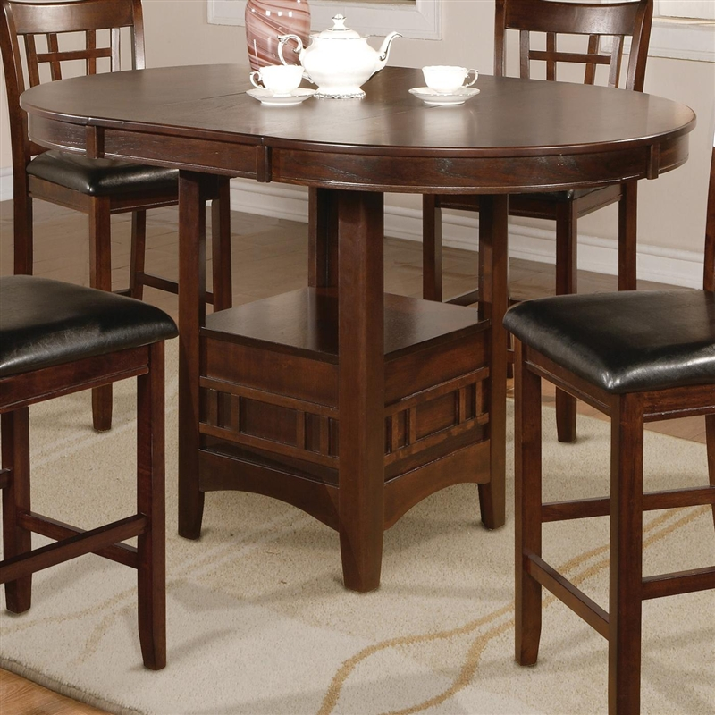 Bar Table Chairs Set Crown Mark Alyssa 3 Piece Bar Table: Hartwell 5 Piece Counter Height Dining Set In Dark Oak