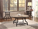 Kenneth 3 Piece Occasional Table Set in Brown Finish by Crown Mark - CM-3172