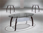 Stellar 3 Piece Occasional Table Set in Dark Brown Finish by Crown Mark - CM-3636