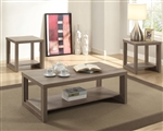 Audra 3 Piece Occasional Table Set in Taupe Finish by Crown Mark - CM-4121-TAU