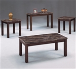Thurner 3 Piece Occasional Table Set by Crown Mark - CM-4166