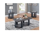 Randy 3 Piece Occasional Table Set in Grey Finish by Crown Mark - CM-4229
