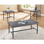 Frontier 3 Piece Occasional Table Set in Grey Finish by Crown Mark - CM-4230