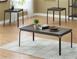 Clarence 3 Piece Occasional Table Set in Dark Brown Finish by Crown Mark - CM-4240