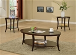 Rhonda 3 Piece Occasional Table Set in Rich Brown Finish by Crown Mark - CM-4247