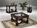 Madison 3 Piece Occasional Table Set in Rich Brown Finish by Crown Mark - 4320