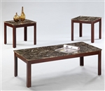 Lola 3 Piece Occasional Table Set in Medium Brown Finish by Crown Mark - CM-4717