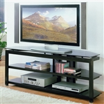 "Delta 58"" TV Console in Black Finish by Crown Mark - CM-4816"