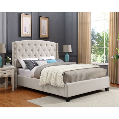 Eva Bed in Ivory Finish by Crown Mark - CM-5111IV-Bed