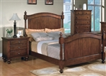 Sommer Poster Bed in Warm Brown Finish by Crown Mark - B1300-Bed