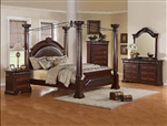 Neo Renaissance 6 Piece Bedroom Canopy Suite in Two Tone Finish by Crown Mark - B1470