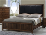 Belmont Bed in Brown Finish by Crown Mark - CM-B3100-PU-Bed