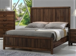 Belmont Bed in Brown Finish by Crown Mark - CM-B3100-WD-Bed